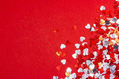 Предпосылка сердца Валентайн Стоковое Изображение RF