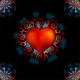 Предпосылка сердца влюбленности Стоковая Фотография RF