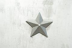 Предпосылка серебряной звезды Стоковые Фото