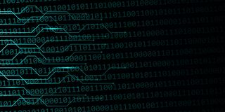 Предпосылка сети цифров с бинарным кодом бесплатная иллюстрация