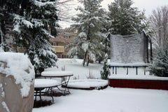 Предпосылка сильного снегопада Стоковые Фотографии RF