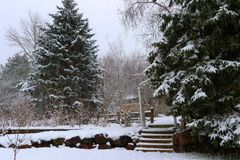 Предпосылка сильного снегопада Стоковые Изображения RF