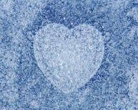 Предпосылка сини льда с сердцем стоковые фото