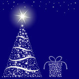 Предпосылка сини рождества Стоковое Фото