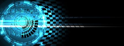 Предпосылка скорости гонок, абстракция иллюстрации вектора в следе автомобиля иллюстрация вектора
