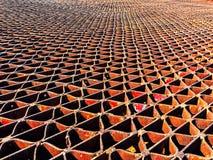 Заржаветая решетка металла стоковая фотография rf