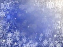 Предпосылка снега зимнего отдыха Стоковые Фотографии RF