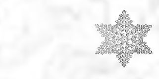 Предпосылка снежинки рождества зимы Стоковые Фото