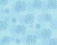 Предпосылка снежинки сини и teal абстрактная иллюстрация вектора