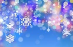 Предпосылка снежинок зимы иллюстрация штока