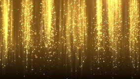 Предпосылка снежинок рождества золота падая, петля