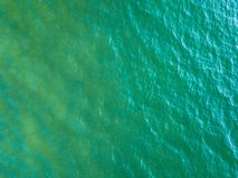 Предпосылка снятая поверхности морской воды aqua Стоковые Фото
