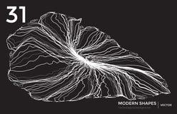 Предпосылка современной формы вектора технологическая Стоковое Изображение