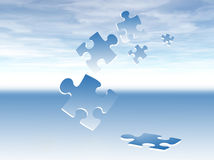 предпосылка соединяет головоломку Стоковая Фотография RF