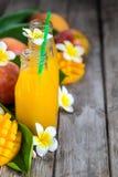Предпосылка сока манго Стоковое Изображение RF