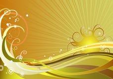 предпосылка солнечная Стоковое Фото