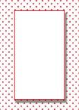 предпосылка ставит точки вектор красного цвета рамки Стоковые Изображения