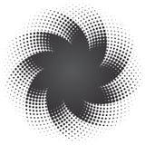предпосылка ставит точки звезда halftone Стоковые Фотографии RF