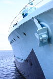 Предпосылка стальной сини окна корабля стоковая фотография rf