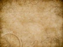 Предпосылка старого конспекта карты винтажная иллюстрация вектора