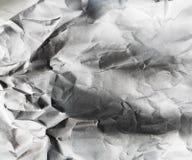 Предпосылка старой скомканной бумаги Стоковые Фотографии RF