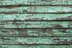 Предпосылка старых деревянных доск покрашенных с краской аквамарина стоковое изображение