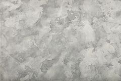 Предпосылка стены гипсолита Grunge покрашенная серым цветом Стоковое фото RF