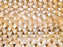 Предпосылка стены золотых треугольников декоративной Стоковые Фото