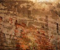Предпосылка стены померанцового Grunge урбанская Стоковое фото RF