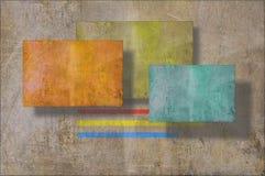 Предпосылка стены Grunge на множественных плоскостях иллюстрация вектора