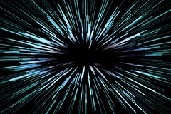 Предпосылка супер скорости абстрактная с голубыми линиями на черной предпосылке, быстро вперед, концепция иллюстрация штока