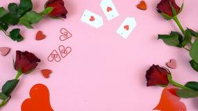 Предпосылка счастливого дня ` s валентинки надземная с космосом экземпляра Стоковое Изображение RF