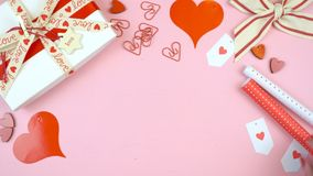 Предпосылка счастливого дня ` s валентинки надземная с космосом экземпляра Стоковая Фотография