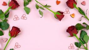 Предпосылка счастливого дня ` s валентинки надземная с космосом экземпляра Стоковые Изображения RF