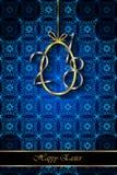 Предпосылка счастливой пасхи современная и элегантная Стоковое фото RF