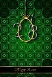 Предпосылка счастливой пасхи современная и элегантная Стоковые Изображения RF