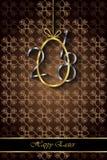 Предпосылка счастливой пасхи современная и элегантная Стоковое Изображение