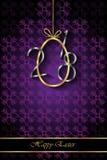 Предпосылка счастливой пасхи современная и элегантная Стоковая Фотография RF