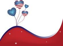 предпосылка США волнистая Стоковое Фото
