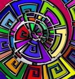 Предпосылка с абстрактным изображением линий и диаграмм конспекта цвета спиральных состоя из иллюстрация вектора