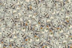 Предпосылка с американцом денег 100 счетов доллара Стоковое Изображение RF