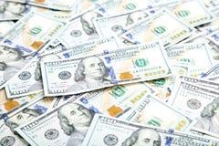 Предпосылка с американцом денег 100 счетов доллара Backg денег Стоковая Фотография