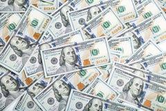 Предпосылка с американцом денег 100 счетов доллара Backg денег Стоковое фото RF