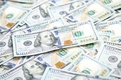 Предпосылка с американцом денег 100 счетов доллара Backg денег Стоковые Фотографии RF