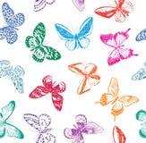 Предпосылка с бабочками Стоковое Изображение RF