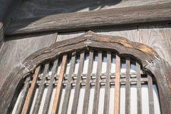 Предпосылка с деталью японских традиционных деревянных окон Стоковые Фото