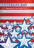 Предпосылка с днем ветеранов звезд, шаблоном для плакатов, объявлениями, приветствиями иллюстрация вектора
