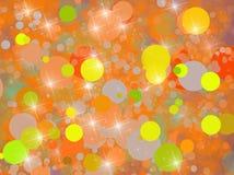 Предпосылка с желтыми и померанцовыми кругами Стоковое фото RF