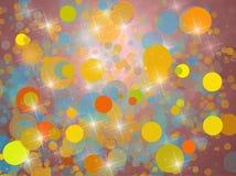 Предпосылка с желтыми кругами Стоковые Изображения RF