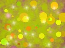 Предпосылка с зелеными кругами Стоковые Фотографии RF